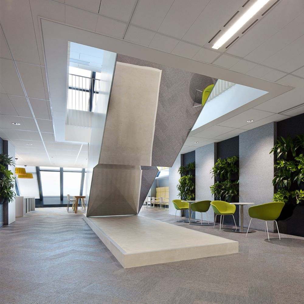 Insurance law firm office with living walls