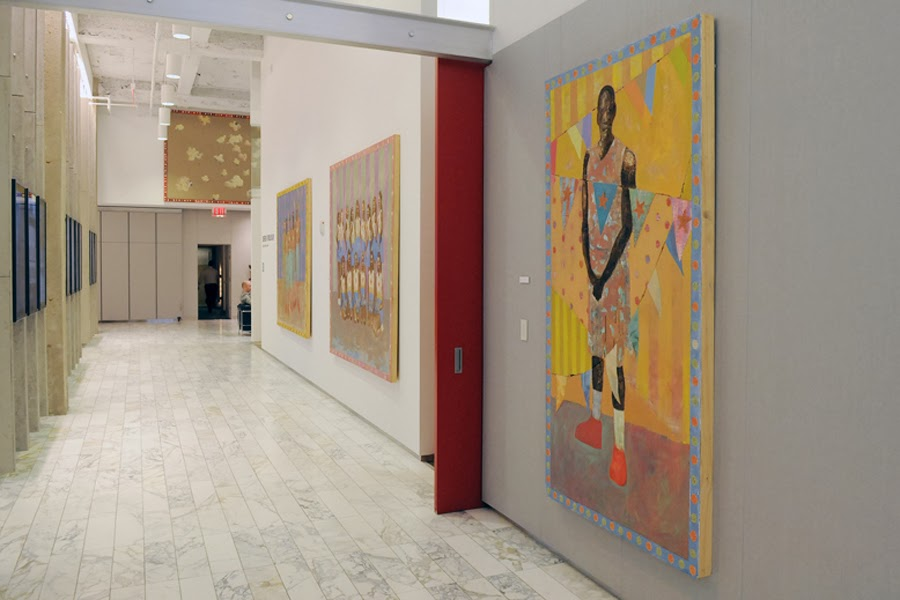Wall street company with corporate art collection