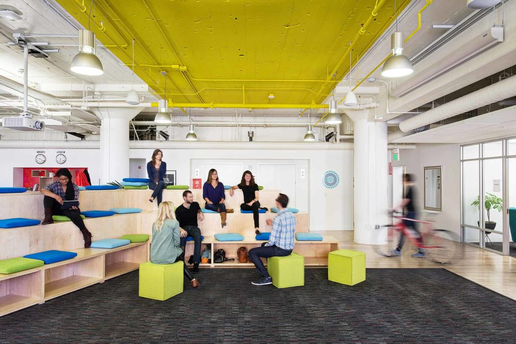 Prezi office with a breakout space