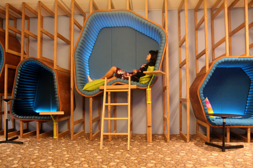 cool pods inside the Google office in Sydney