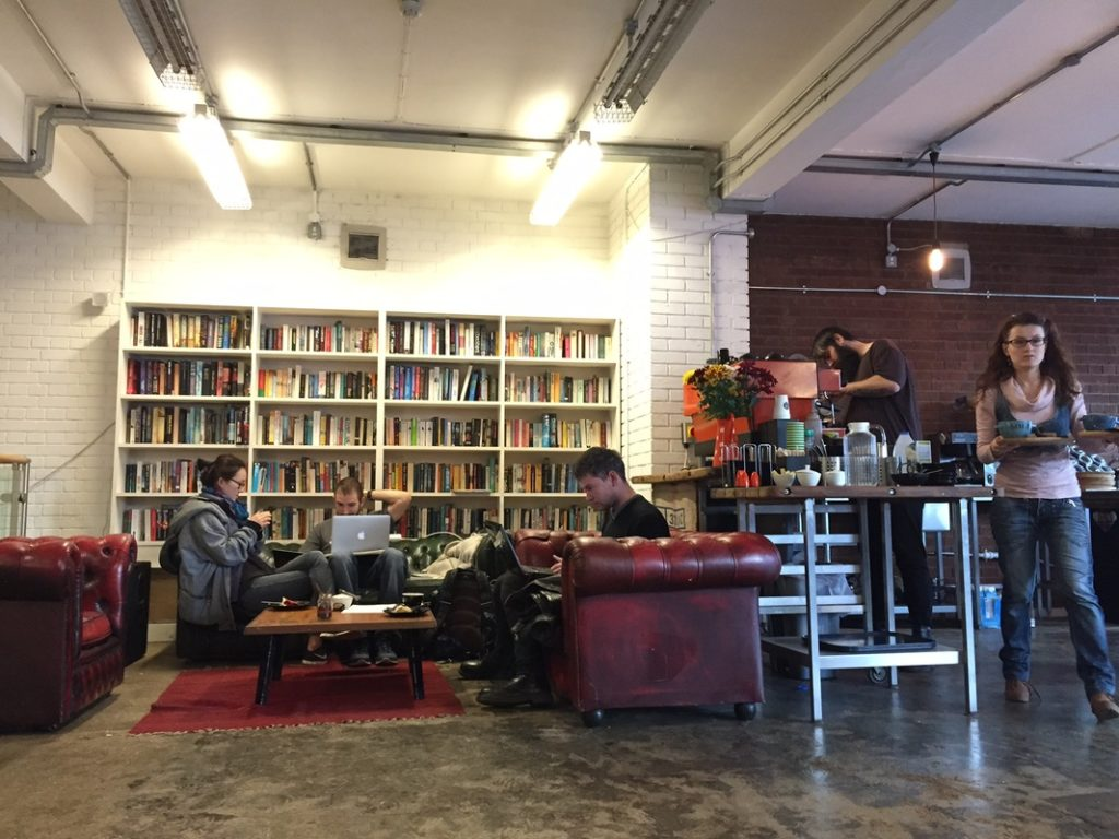 husk coffee and creative space in East London