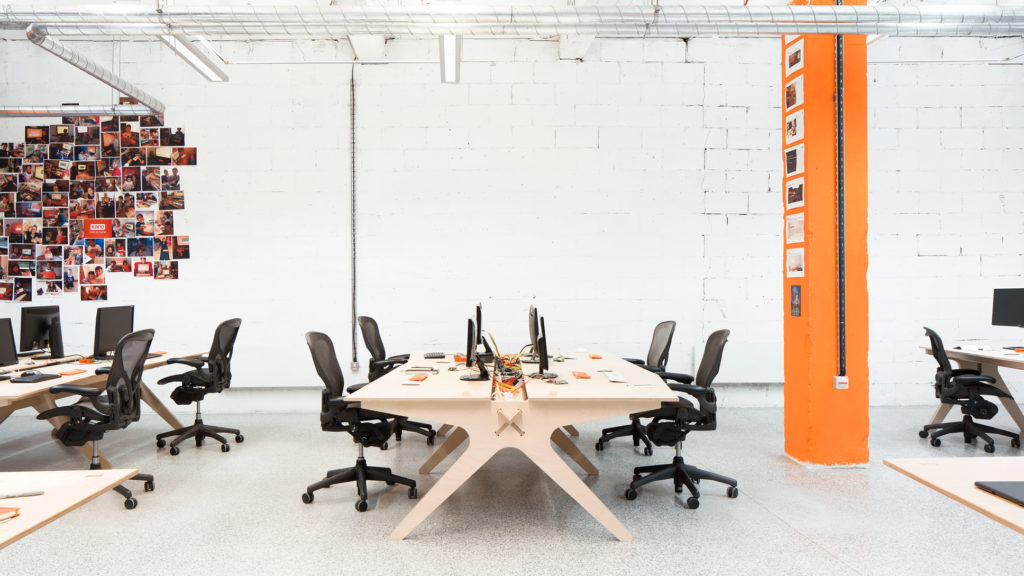 open plan office with Kano Opendesk