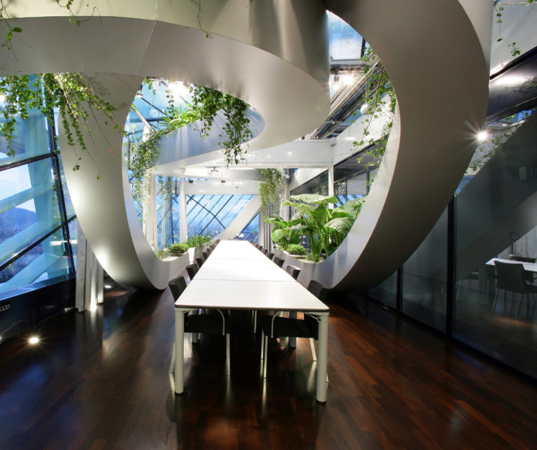 Ljubljana chamber of commerce boasts biophilic design