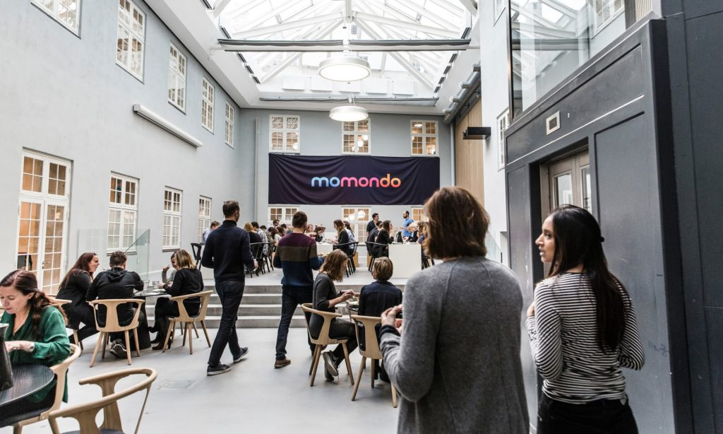 momondo office inner courtyard for socialising