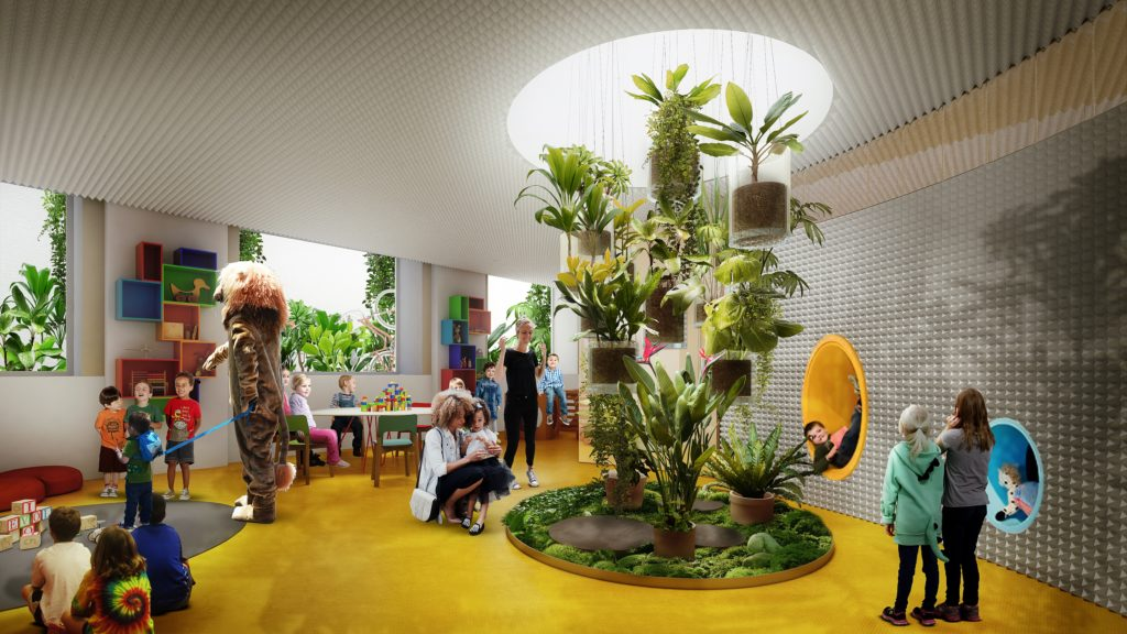 Office nursery visualisation for Second Home in London