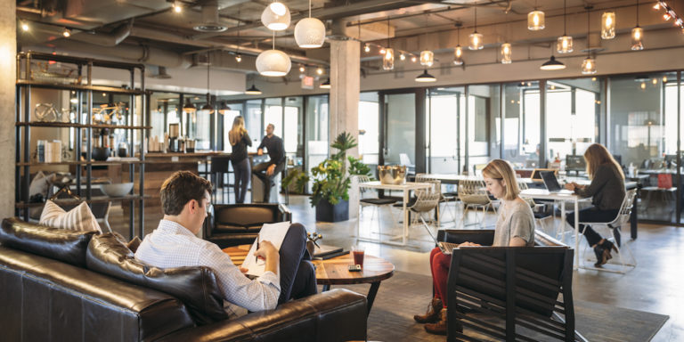 coworking space with a hygge vibe