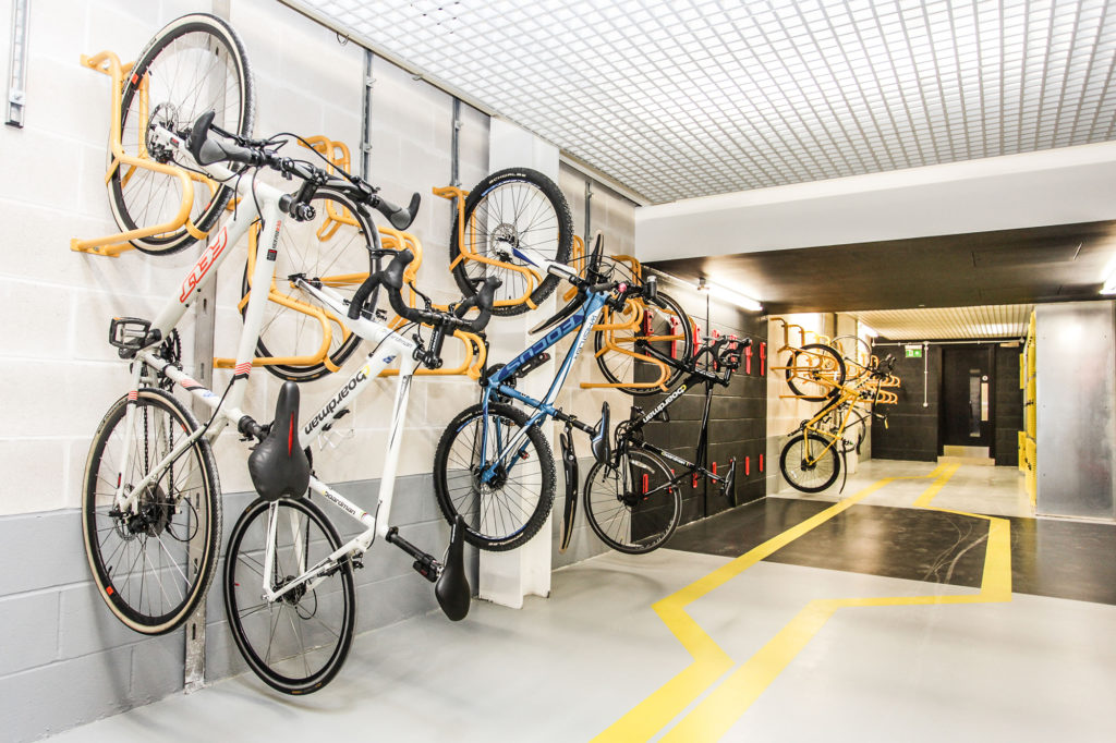 bike storage at 2 Forbury Place, London