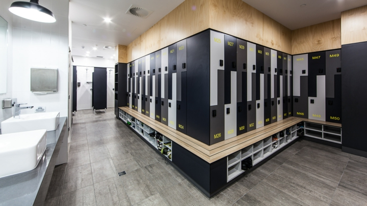 office washrooms fitted with ample locker space