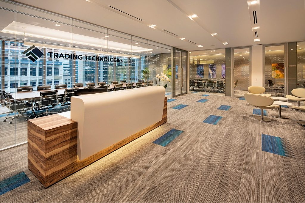 office reception desk at Trading Technologies