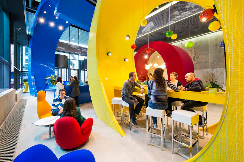 breakout space inside Google Dublin's office